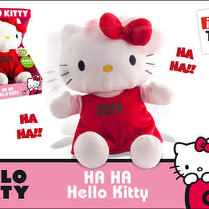 Котенок HELLO KITTY смеется